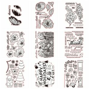Flowers Holiday Stamps Transparent Clear Silicone Stamp/Seal Scrapbooking Album