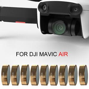 Fuer-DJI-Mavic-Air-Drone-Gold-Kardan-Kameraobjektiv-Filter-HD-pl-ND4-8-16-cpl-UV