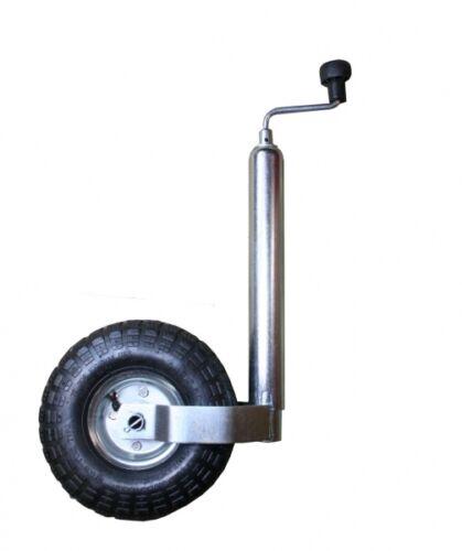 Stützrad mit Luftlaufrad Deichsellaufrad Wohnwagen Trailer ARBO-INOX
