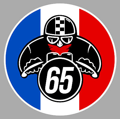 Automobilia Methodical Cafe Racer Motard Drapeau France Numero Au Choix 9cm Deco Sticker Moto Mb052
