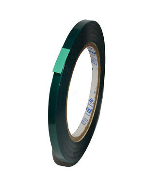 1/4 Inch x 72 yds - High Temperature Polyester Green Masking Tape Powder Coat