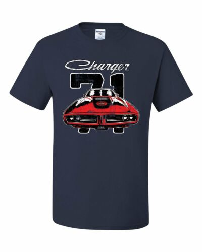 Dodge Charger 71 T-Shirt Distressed American Classic Muscle Car Tee Shirt