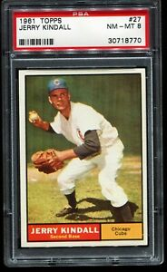 1961-Topps-27-JERRY-KINDALL-Chicago-Cubs-PSA-8-NM-MT