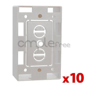10x Low Voltage 1 Gang Bracket Mount Box Multipurpose