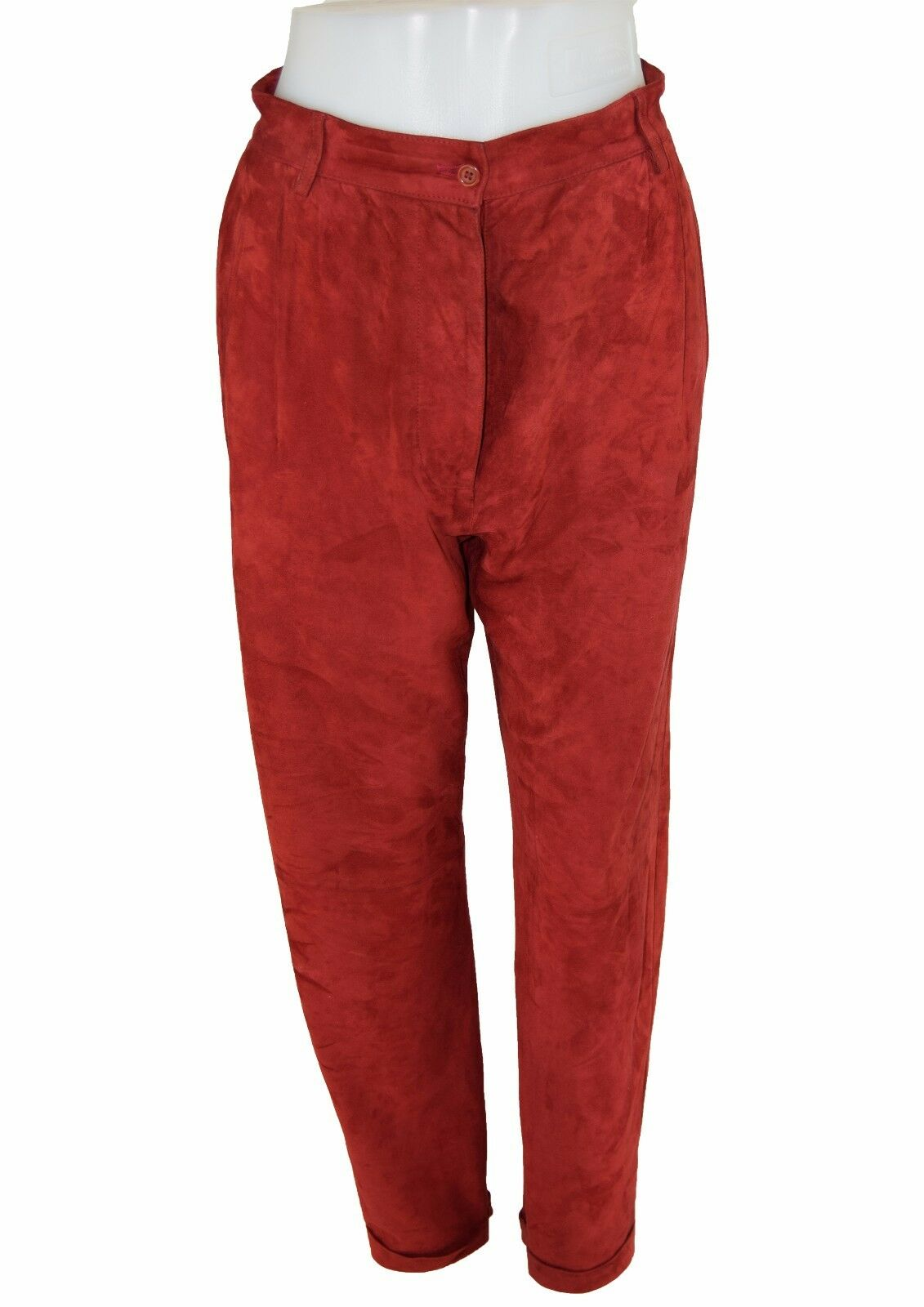 EMPORIO ARMANI rot rot rot Suede Trousers UK 14 EU 42 IT 46 0d4c58