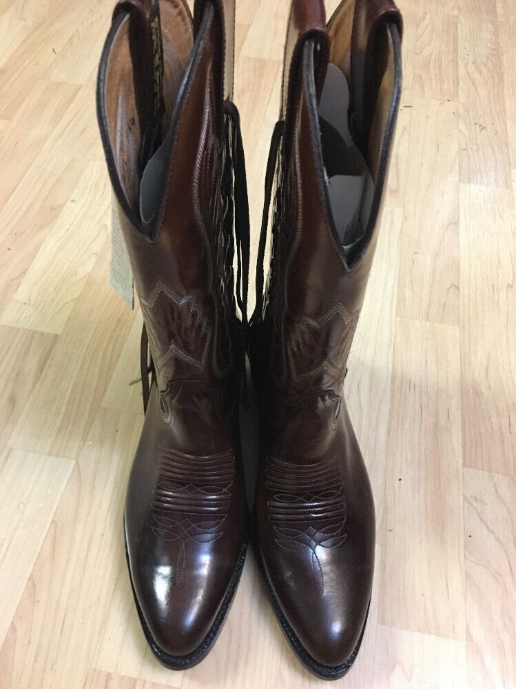 Brand New W/Tags! D'Jesus Pelle Cowboy Stivali Made In Mexico Size Size Mexico 26 1/2 59291d