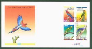 Caribisch Nederland Pays-bas 2012-perroquet Amazone Perruche Ara Nº 27-30 Fdc-afficher Le Titre D'origine Pour Aider à DigéRer Les Aliments Gras