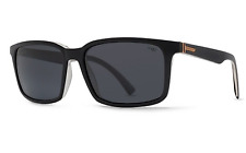 Von ZIPPER Pinch Mens Sunglasses Black Crystal/grey MELOPTICS Polarized Lens