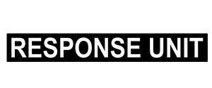RESPONSE UNIT MAGNET Sign Mountain Ambulance Medic  Emergency Service Car 620mm