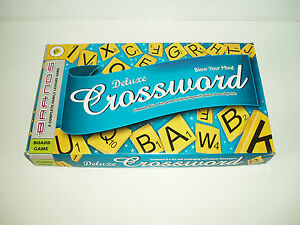 Image Is Loading Brands Deluxe Crossword Board Game