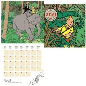 Tintin 24442 Calendrier Calendario Tintin 2021   eBay