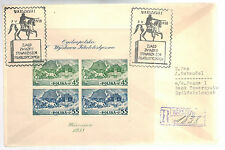 1938 Warsaw Poland Stamp Show first day Cover # B29 perf Souvenir Sheet FDC