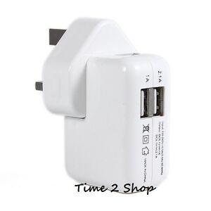 2-Ports-USB-Secteur-Mural-Chargeur-Adaptateur-D-039-alimentation-pour-iPad-2-3-Mini
