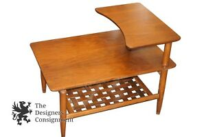 Beau Image Is Loading Mid Century Modern Lane Furniture Basket Weave Step