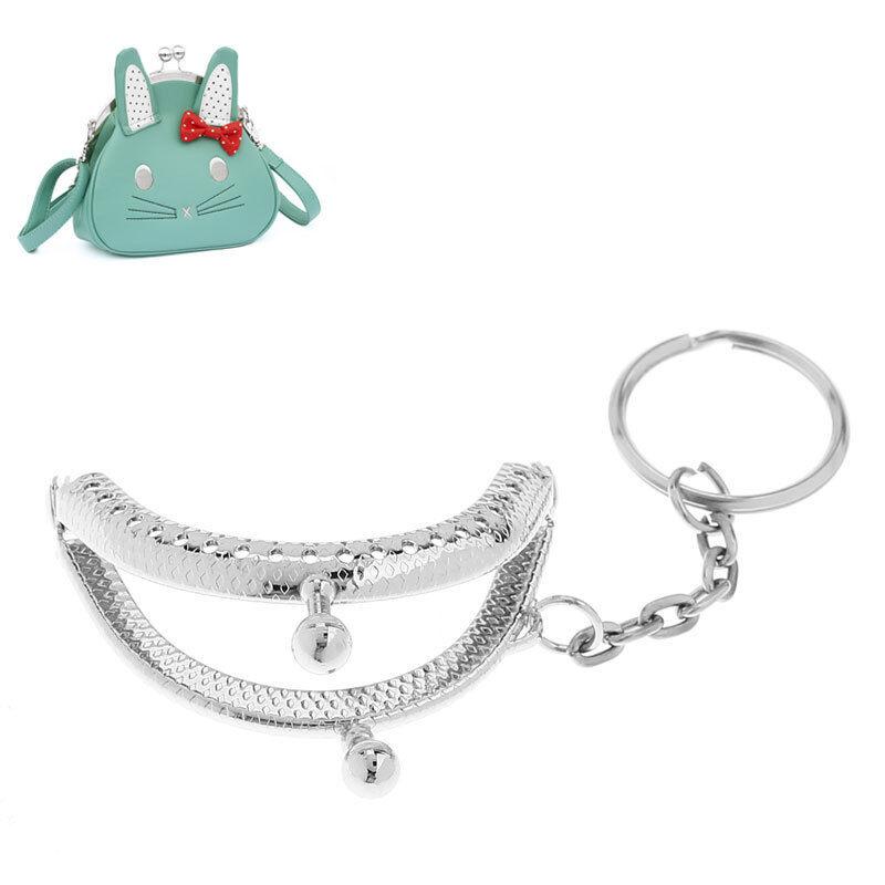 Wholesale Lots Metal Purse Bag Kiss Frame  M2292 Tone Silver Lock Clasp