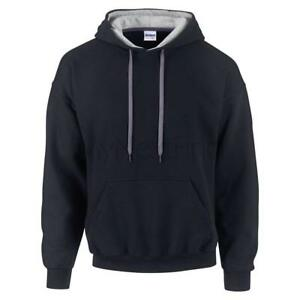 Gildan-Contrast-Colour-Heavy-Blend-Hoodie-Hooded-Sweatshirt-Jumper