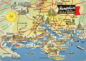 Map Of Uk Hampshire.Details About B97233 Hampshire And Isle Of Wight Map Cartes Geographiques Uk