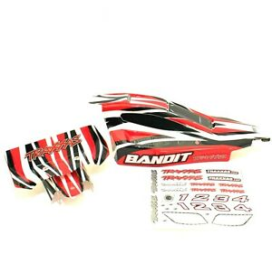 Traxxas-2wd-Bandit-Body-Wing-Mount-Red-Black-White-Painted-XL5-VXL