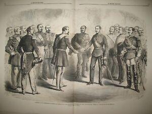 EMPEREURS-NAPOLEON-III-ET-FRANCOIS-JOSEPH-ARMISTICE-AUTRICHE-GRAVURES-1859