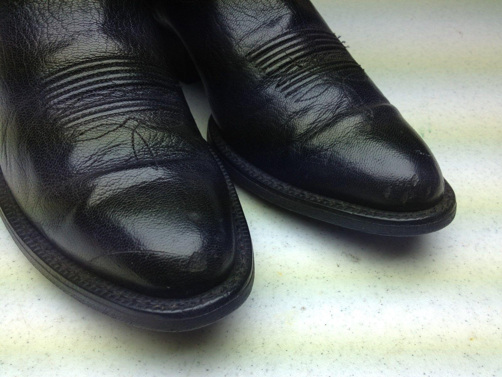 schwarz DISTRESSED LEATHER LEATHER LEATHER ARIAT WESTERN ROCKABILLY COWBOY Stiefel 8.5 D 819559