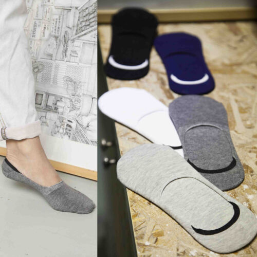 5Color Men/'s Loafer  Non-Slip Casual Invisible Cotton Low Cut No Show Socks Gift