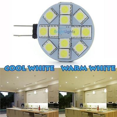 G4 LED SLICE BULB 12 X 5050 SMD CHIPS 12V WARM DAY WHITE KITCHEN CARAVAN 2W UK