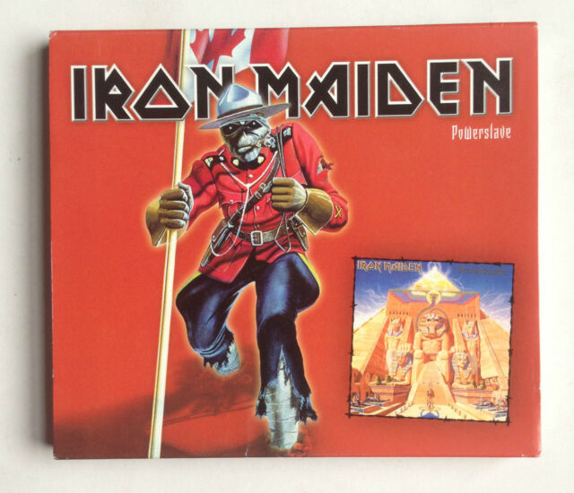IRON MAIDEN - POWERSLAVE CD - RARE RCMP BANNED CANADIAN CANADA EDITION