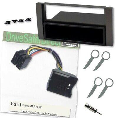 FP-07-02 Black Ford Cougar Fascia Facia Panel Adapter Stereo Fitting Kit Keys
