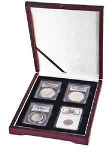 Image is loading Coin-Presentation-Box-Case-4-Graded-Slabs-Set-  sc 1 st  eBay & Coin Presentation Box Case 4 Graded Slabs Set Certified Holders ... Aboutintivar.Com