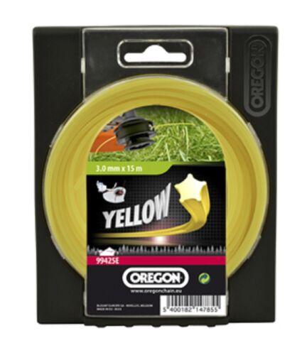 9648587-25 Oregon Starline jaune 15m DU PERCO ligne 1,6 mm Pour Flymo Contour