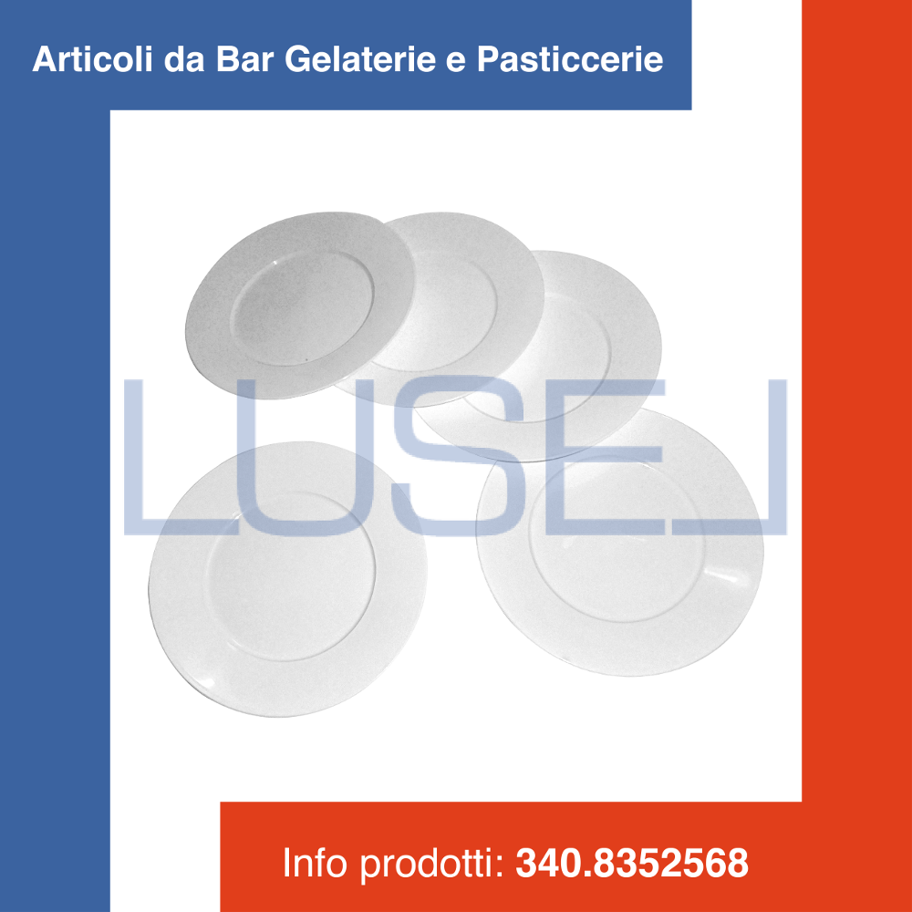 PZ 200 PIATTINO IN PLASTICA ALIMENTARE TONDO BIANCO 17 CM RESISTENTE APERITIVO