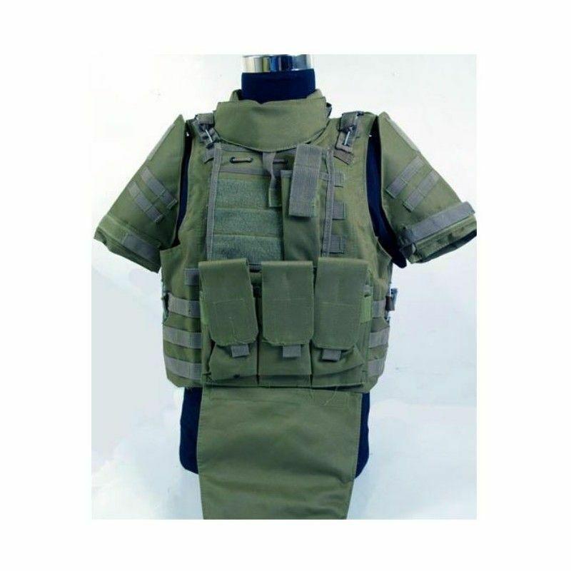 Chaleco estilo militar color green camuflaje  táctico FSBE II OD envio 24 48h