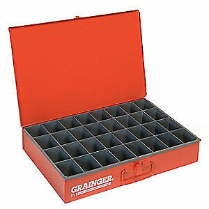 Red 107-17-S1158 DURHAM MFG Drawer,32 Compartments,Red