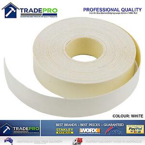 White Melamine Edge Tape 22mm x 10m ICON® Iron On Glued Veneer Edging Laminate