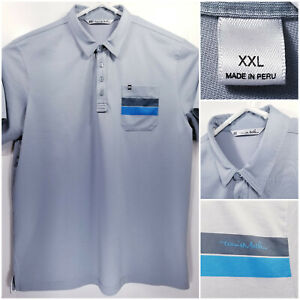 Travis-Mathew-Mens-2XL-XXL-Golf-Shirt-Polo-Gray