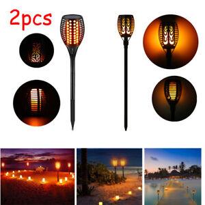 51 LED Wasserdichte Outdoor Camping Solar Licht Landschaft Flamme Fackel Lampe