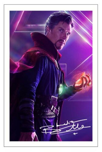 BENEDICT CUMBERBATCH AVENGERS INFINITY WAR  SIGNED PHOTO PRINT AUTOGRAPH