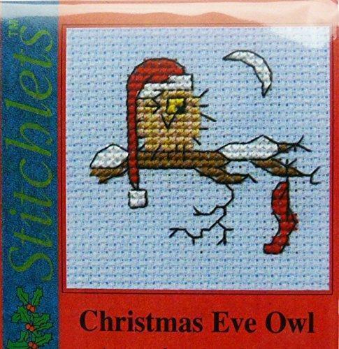 MOUSELOFT cross stitch Carte de Noël Kit-Christmas Eve Owl-COMPREND Carte