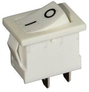 Interrupteur Commutateur Contacteur Bouton à Bascule Blanc Spst On-off 3a/250v