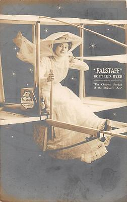 RPPC FALSTAFF BOTTLED BEER AVIATION LEMP ST. LOUIS MISSOURI REAL PHOTO POSTCARD