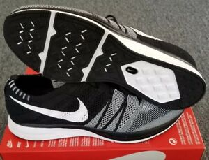 f97926c9a0a13 NEW NIKE FLYKNIT TRAINER 2018 OREO BLACK WHITE MENS SZ 12 ORCA RACER ...