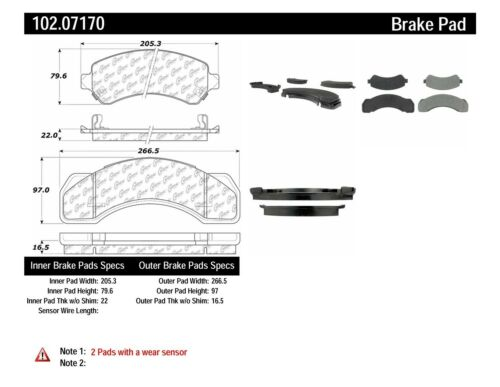Disc Brake Pad Set-C-TEK Metallic Brake Pads Rear,Front Centric 102.07170