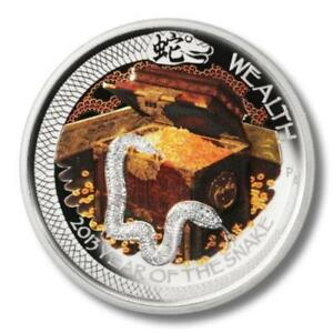Tuvalu-2013-1-Dollar-Year-of-Snake-Wealth-1-Oz-Silver-Proof-Coin