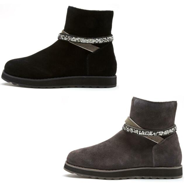 Skechers Keepsakes 2.0 Dazzler Gal Women Winter Boots Sparkly Glitter Straps