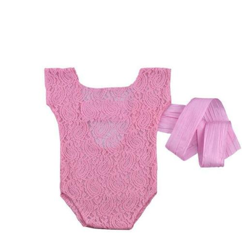 Newborn Toddler Girls Baby Kid Romper Lace Bodysuit Infant Clothes Outfits BB