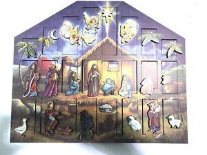 Byers Choice Christmas Nativity Advent Calendar Solid Wood