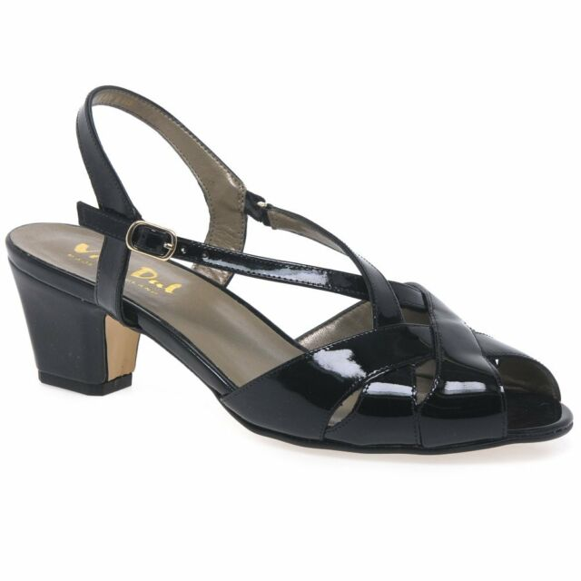 12e137e298 Ladies Van DAL Heeled Sandal Libby II Black Patent 5.5 UK E