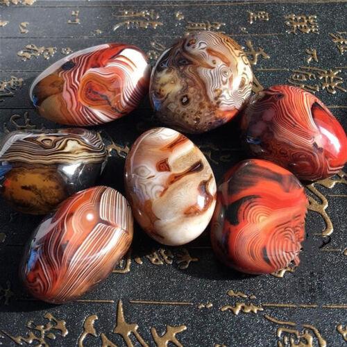 2-3CM Madagascar Banded Agate Stones Specimen Tumbled Raw Gemstone Collection