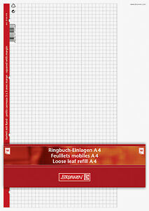 Ringbucheinlagen-von-BRUNNEN-DIN-A4-kariert-liniert-blanco-50-Bl-100-Bl