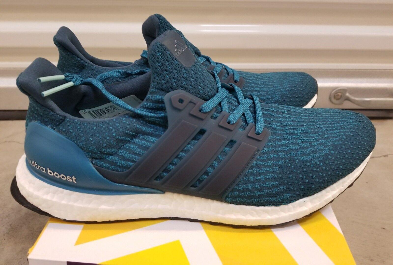 Adidas Ultra Boost 3.0 Petrol Night Mystery Blue Size US 9.5 Receipt S82021